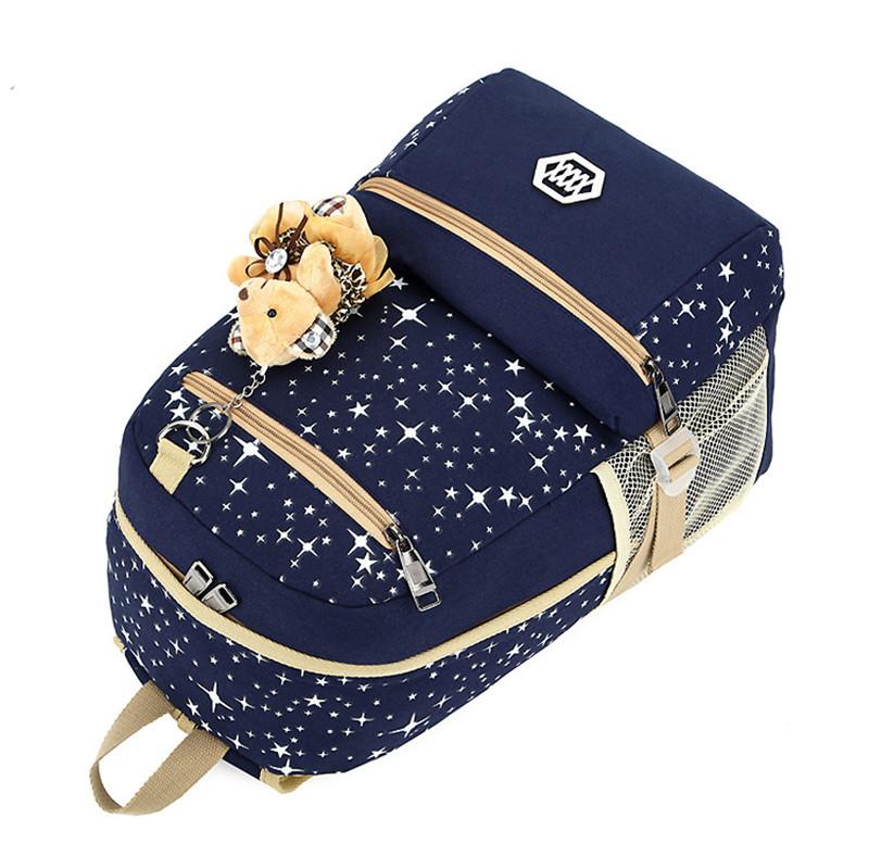 270 (7)3 pièces/ensemble sac à dos sacs d'école