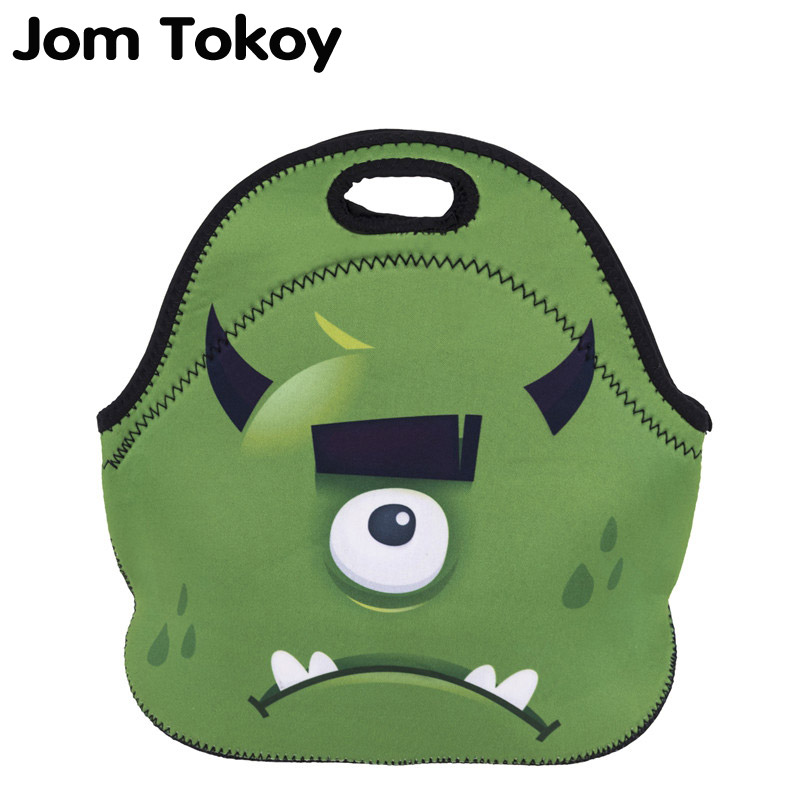 Jom Tokoy GreenMonster Thermal Insulated 3d print Lunch Bags for Women Kids Thermal Bag Lunch Box Food Picnic Bags Tote Handbags