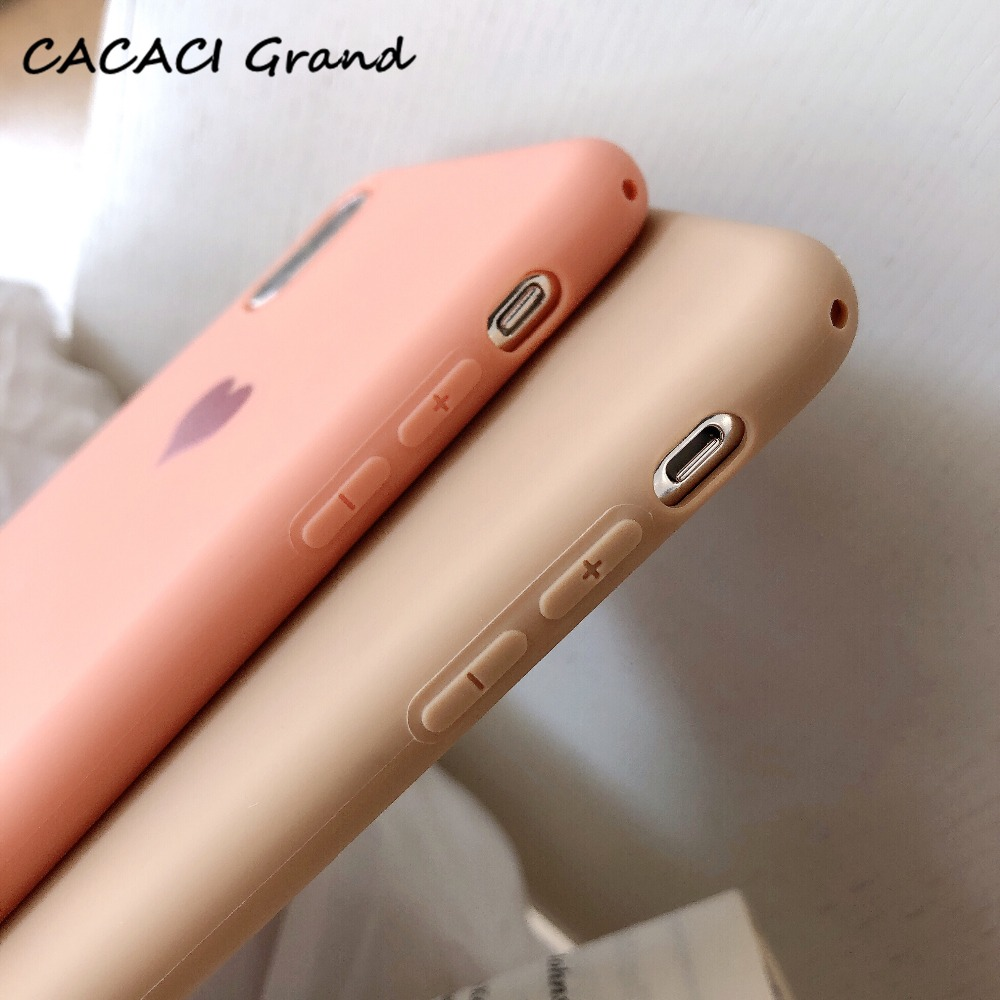 Cute Etui Love Heart Soft TPU Silicone Cases for iPhone X 10 Phone Case For iPhone 6s 6 8 7 Plus XS Max XR Coque Matte Fundas