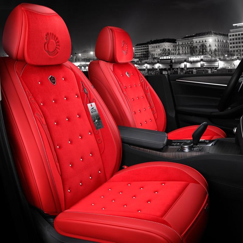 Auto cuscino del sedile copertura di sede con borchie strass styling auto per honda civic 2003 2006-2011 accord 7 città 2013 cr-v 2011 2018