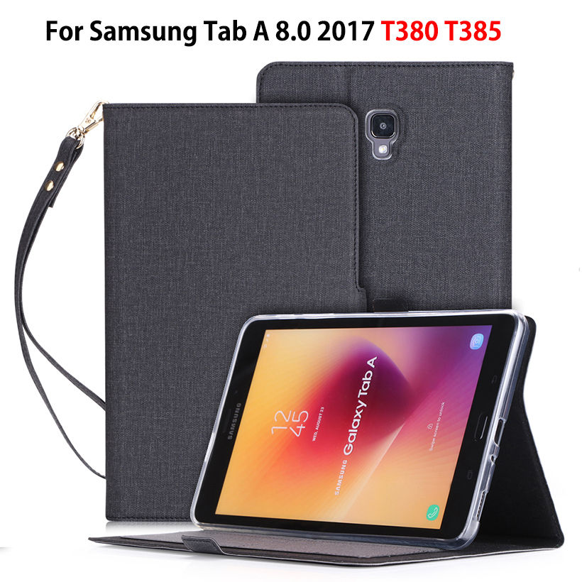 Di lusso di Caso per Samsung Galaxy Tab 8.0 T380 T385 SM-T385 2017 8.0 pollici di Smart Funda Copertura Supporti tablet Capa Borsette + Film + PenDi lusso di Caso per Samsung Galaxy Tab 8.0 T380 T385 SM-T385 2017 8.0 pollici di Smart Funda Copertura Supporti tablet Capa Borsette + Film + Pen