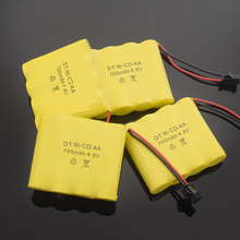 1/2/4/8x Rechargeable 4.8V 700mAh Ni-Cd AA Battery Pack For Remote Control Toys Electric Car SM-2P Plug Nicd  4.8 V Volt Bateria