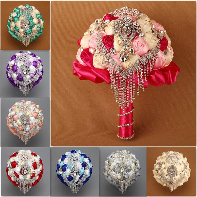 Customized Romantic Black Red Purple Blue Rose Wedding