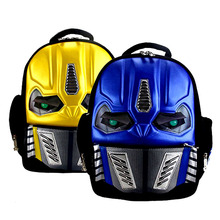 3D New Robot Cartoon School Bags For Girls Boys Cool Children Backpack With LED Flashing Kindergarten Book Bags Mochila Infantil