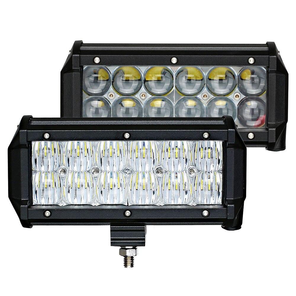 Prix pour Weketory 7 pouce 60 W 4D 5D LED Travail Light Bar pour Tracteur bateau OffRoad 4WD 4x4 Camion SUV ATV Spot Flood Combo Faisceau 12 V 24 v
