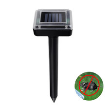 2pcs professional solar ultrasonic rodenticide device to drive out the mouse / snake garden farm products