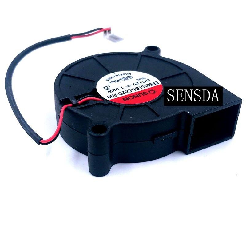 2pcs New For Sunon EF50151B1-C02C-A99 5015 12V 1.92W 50*50*15mm Ultra Quiet Humidifier Turbo Blower Cooling Fan
