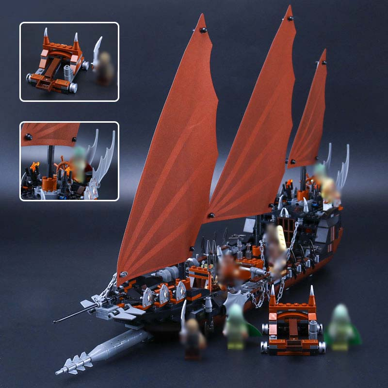 LEPIN 16018 756Pcs The Lord of the Rings Pirate Ship Ambush Model Building Block Kids Brick  Christmas  Compatible legoING 79008 lepin 22001 pirate ship imperial warships model building kits blocks 1717pcs brick toy compatible with lepin 10210
