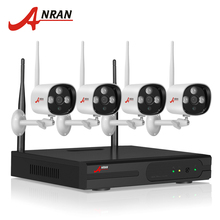 1TB HDD CCTV System 4CH H.264 Wireless NVR Video Recorder P2P 1.0MP HD Outdoor IR WIFI IP Camera 720P Security Camera