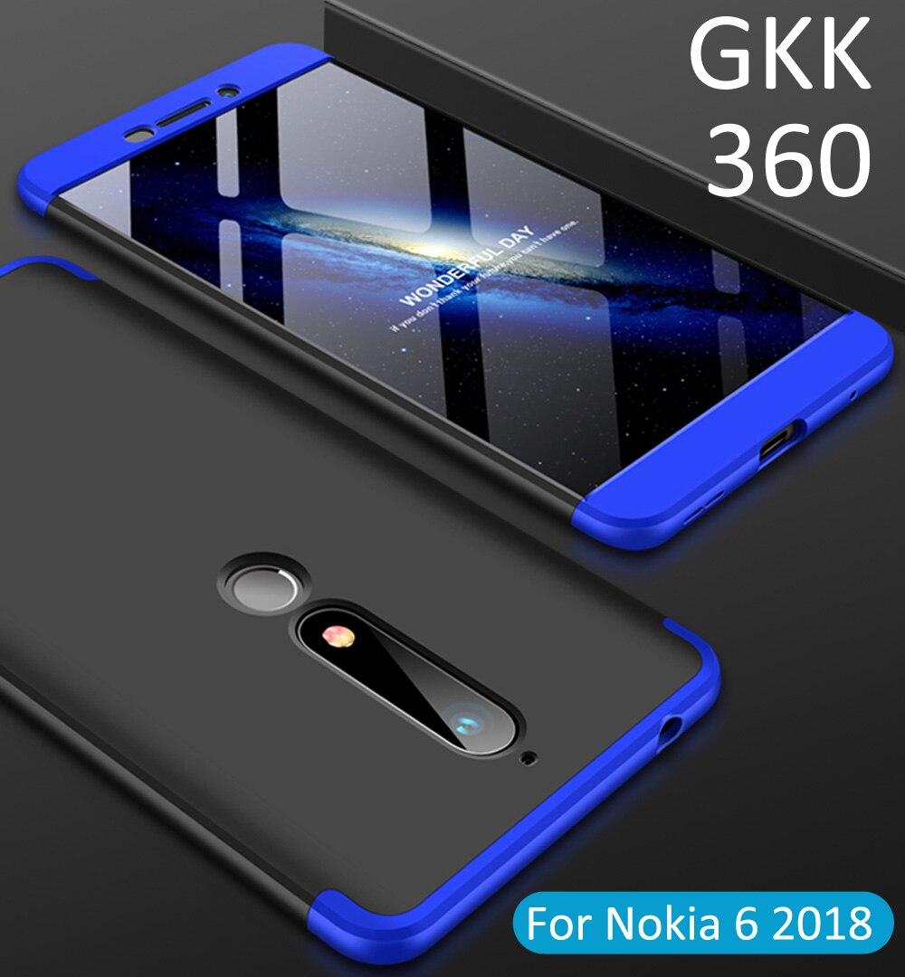 GKK Case For Nokia 8.1 6.1 Plus 2018 360 Full Protection Cover Ring Holder Finger Grip nokia 8 new 2018