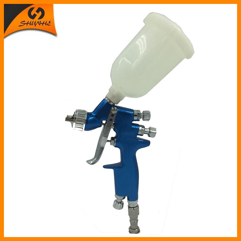 цена на SAT1139 hvlp sprayer mini gun car painting tools air pressure guns gravity feed airbrush professional air spray paint gun