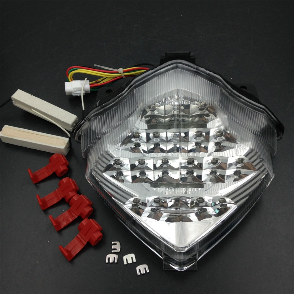 Aftermarket free shipping motorcycle parts LED Tail Brake Light turn signals for Yamaha YZF R1 YZFR1 YZF-R1 2004-2006 CLEAR aftermarket free shipping motorcycle parts eliminator tidy tail for 2006 2007 2008 fz6 fazer 2007 2008b lack