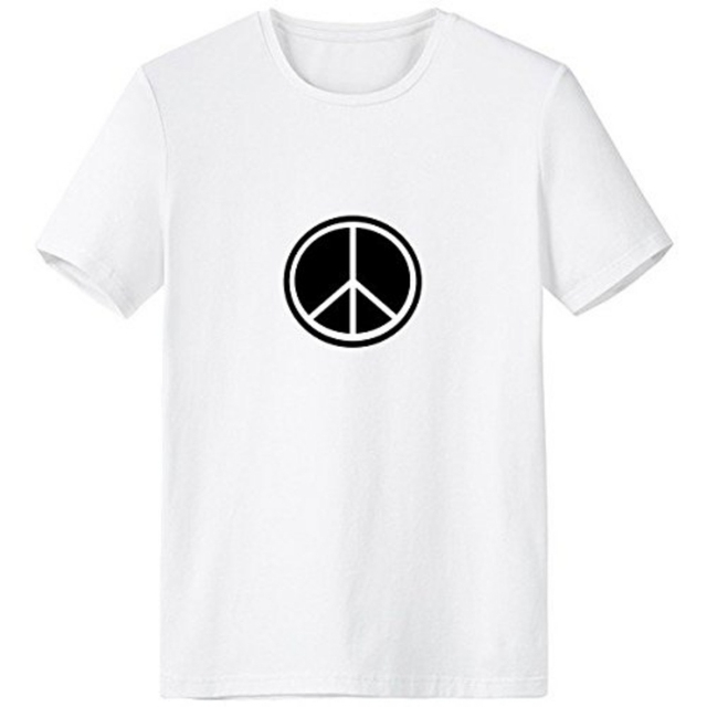 Black White Peace Symbol Nuclear Disarmament Anti War Simple Design