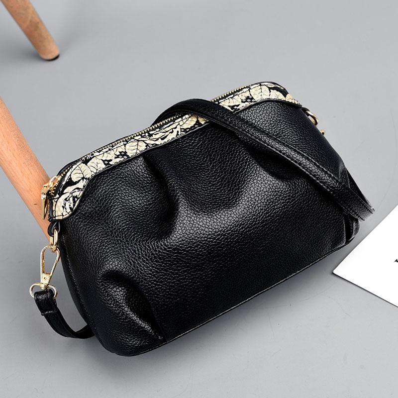 BARHEE Verano Pequeño Flap acanalado PU cuero mujer Messenger Bag - Bolsos - foto 2