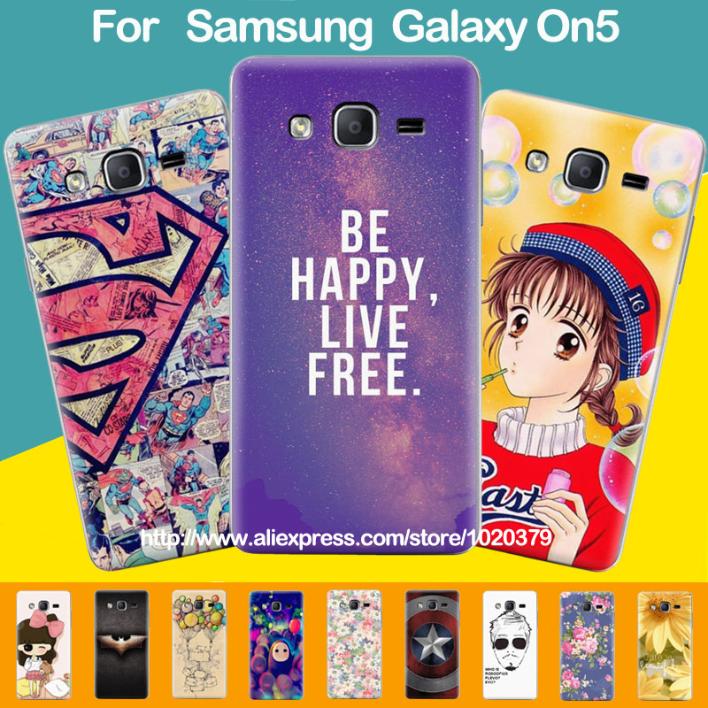 the best attitude d97c5 d3a87 US $9.99  For Samsung Galaxy On5 G550 Case Unique Design Hard Cartoon  Painting Back Case Cover For Samsung Grand On Galaxy O5 Phone Covers on ...