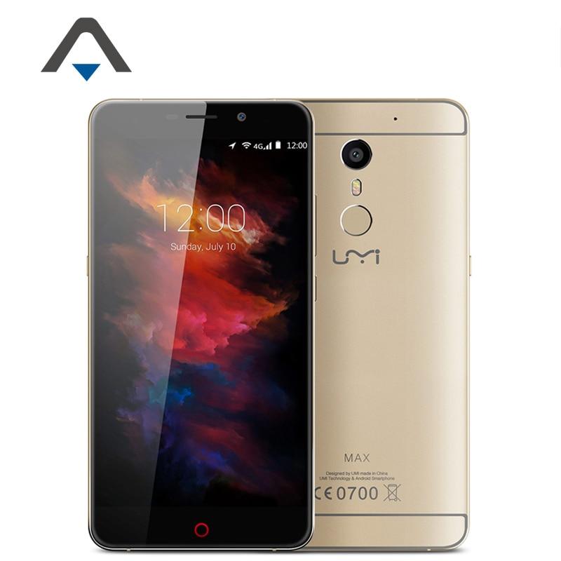 Original UMI MAX 4G LTE font b Smartphones b font 5 5 Android 6 0 Mobile