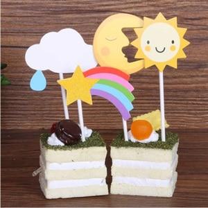 Image 4 - Аниме Doraemon Nobita торт украшение Doraemon облако Топпер для торта «С Днем Рождения» для детского шоу день рождения принадлежности