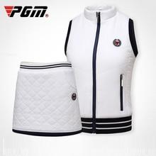 Pgm гольф юбка костюм для женщин теплая плотная короткая рубашка флис эластичный спортивная одежда теннис мини юбка комплект одежды D0492