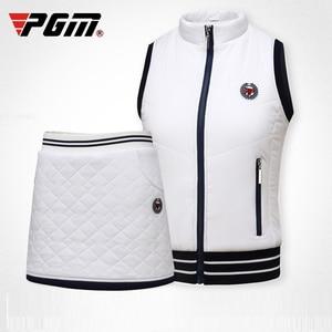 Barra di traino Pgm Golf Vestito di Pannello Esterno Delle Donne Caldo Addensare Breve Insieme Dei Vestiti Della Camicia del Panno Morbido Elastico Abbigliamento Sportivo Tennis Mini Pannello Esterno D0492
