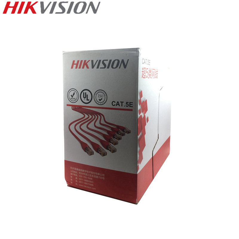 HIKVISION UTP CAT5E Unshielded Indoor Network Cable Wire For IP Camera CCTV System 305 Meters Oxygen-free Copper Wire