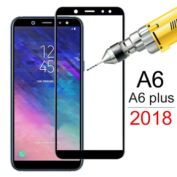 Tempered Glass For Samsung Galaxy A6 A4 A6plus A600F Screen Protector on the For Samsung A6 Plus A6+ A 6 4 Protective Film Cover image