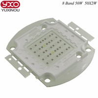 New 8 Band 50w 100w 50 2w Grow Light Led Chip Full Spectrum Led Red Blue