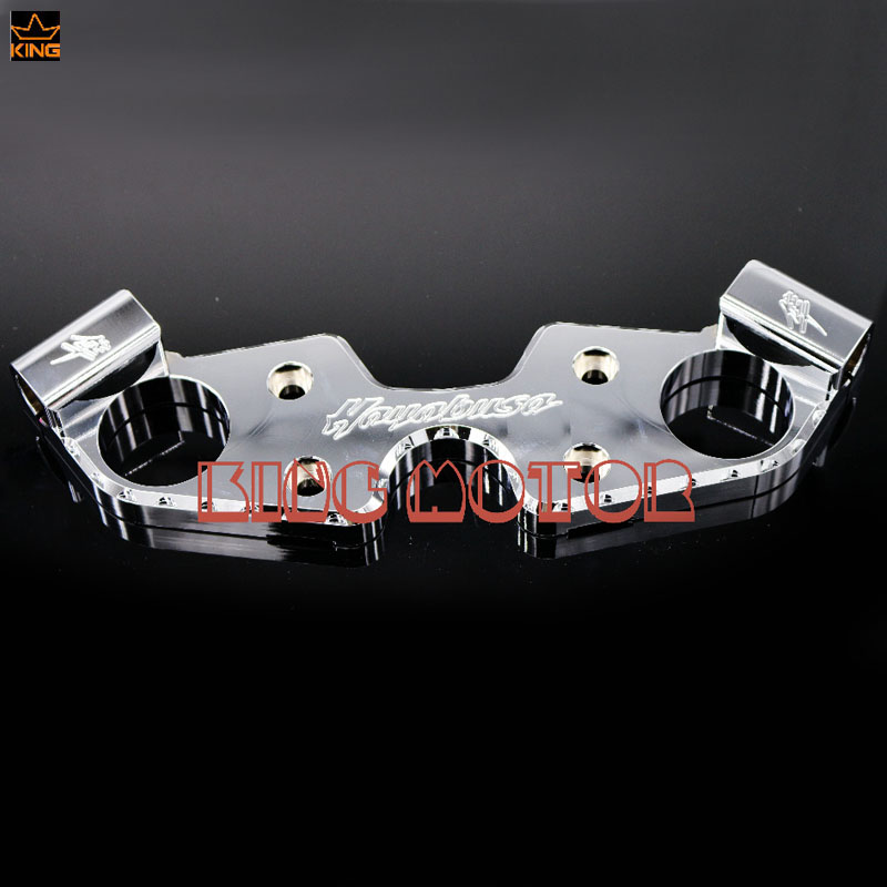 Motorcycle Accessories Lowering Triple Tree Front End Upper Top Clamp Chrome For SUZUKI GSX1300R HAYABUSA 2008-2016