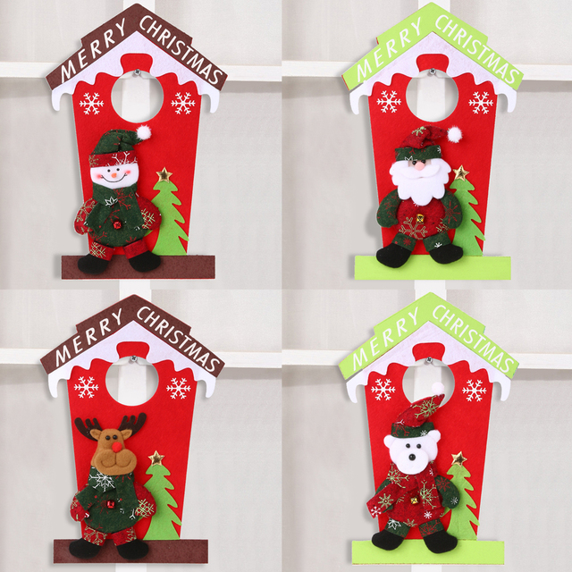 christmas hanging decorations door ornament santa claus snowman xmas tree hanging pendant navidad christmas decorations for - Christmas Hanging Decorations