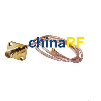 все цены на  RF SMA Female jack with 4 hole to U.fl/IPX Pigtail Antenna Cable Rg178 25cm WiFi  онлайн