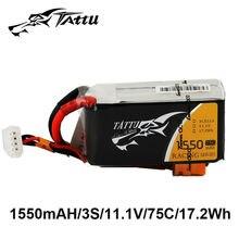 TATTU Lipo Battery 11.1v 1550mAh Lipo 3s 75C RC Battery XT60 Plug Batteries for Nemesis 240 Mini Drone FPV Frame Car Racing Dron