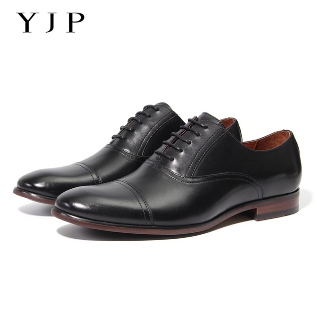 6400fc629cc US $54.0 41% OFF|YJP Vintage Leather Oxfords Shoes, Black/Brown Patent  Leather Dress Shoes, Men's Business Formal Shoes, Luxury Wedding Shoes-in  ...