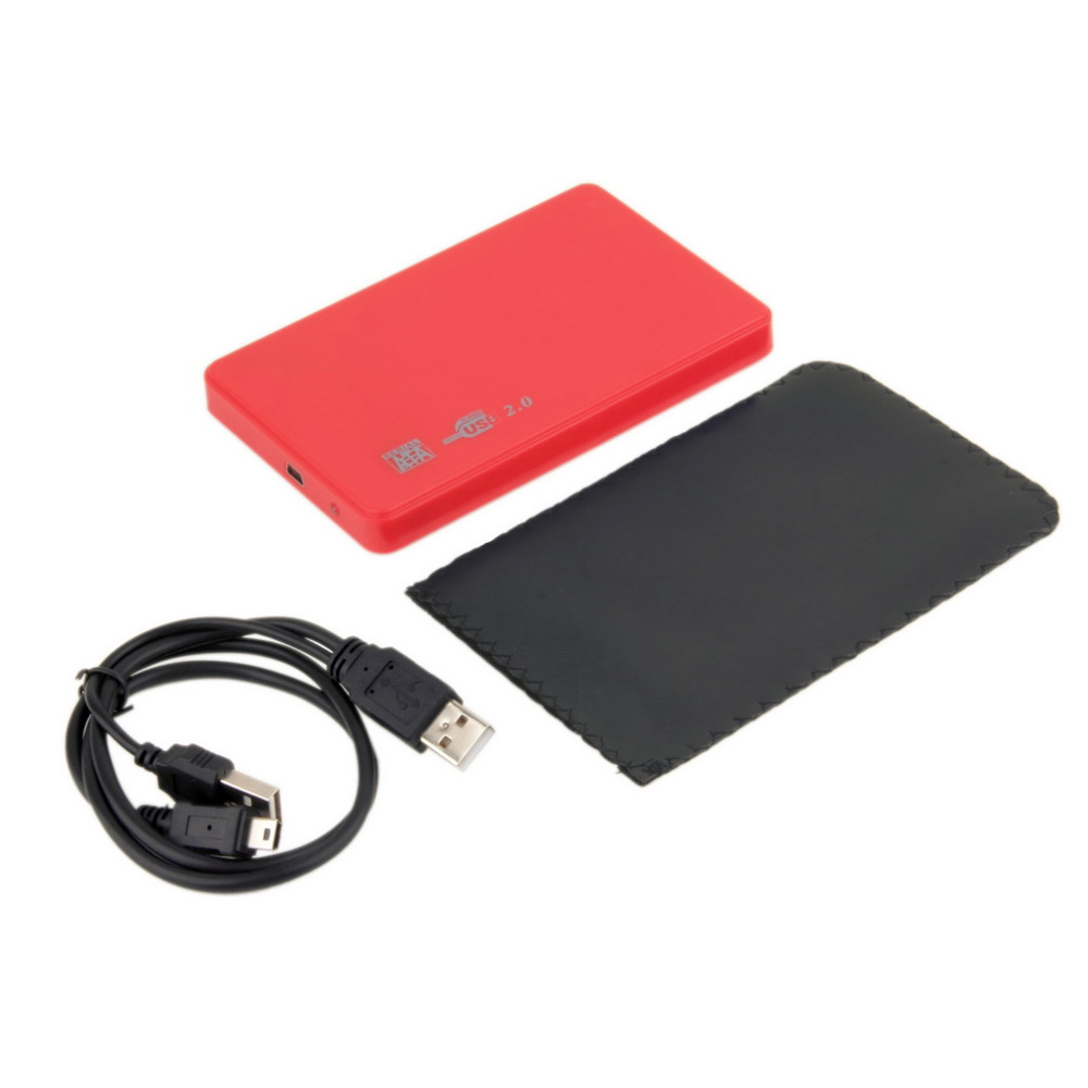 "1 pcs New USB 2.0 480Mbps Enclosure Case Box for Laptop 2.5"" SATA Hard Drive Promotion"