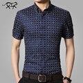 2017 New Brand short sleeve men shirts Cotton Plaid shirts male casual Fashion mens shirts slim fit spring shirt plus size 5XL