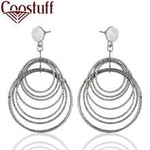 Beautiful Silver Women Dangle Earrings Green Stone Wholesale Hotselling Jewelry pendientes brincos Hotsale earrings for