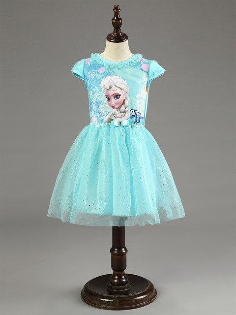 0639acbe03038 US $5.15 18% OFF|Berngi New Elsa Anna Dress Girls Dress Cosplay Party  Dresses Princess Children Baby Kids Baby Vestidos toddler Dresses-in  Dresses ...