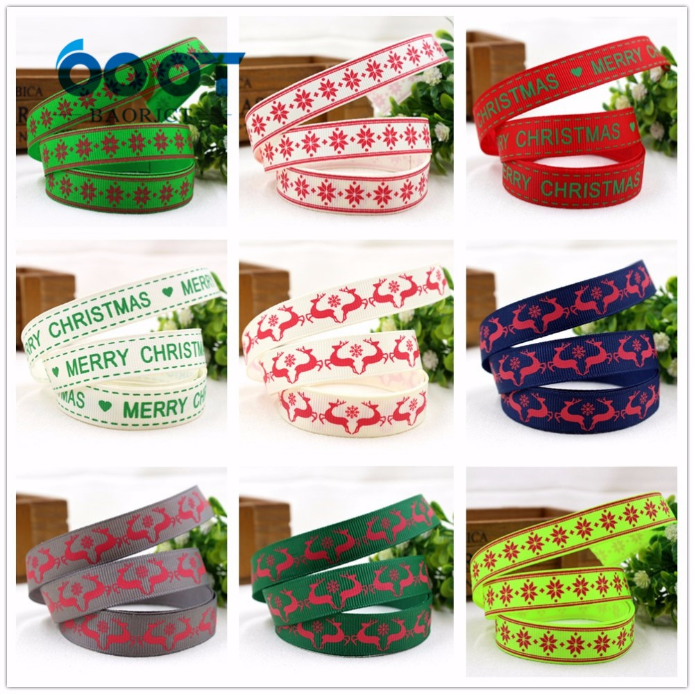 1591099 , 10 style can choose Christmas series ribbon , 16mm Holiday ...