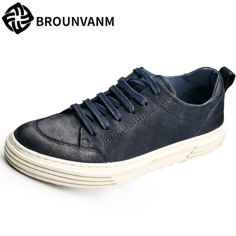 2018 new men's leather casual shoes black flat British reto shoes men all-match cowhide breathable sneaker fashion boots male 2017 fashion red black white men new fashion casual flat sneaker shoes leather breathable men lightweight comfortable ee 20