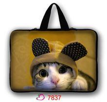 Lovely Cat Laptop Bag 13.3″ 14.4″ 15.6″ Portable Soft Sleeve Handlebag Laptop Bags Case for women MacBook Pro Air Notebook gift