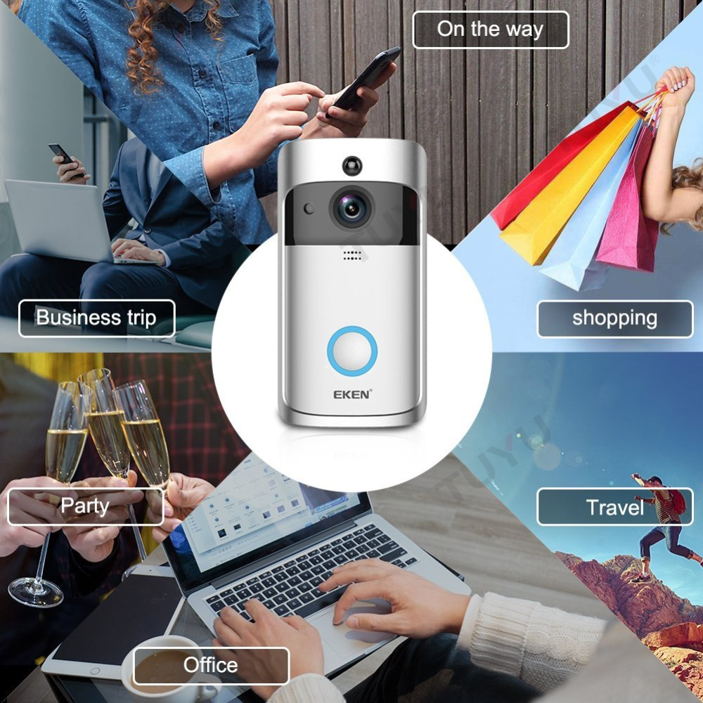 EKEN Smart Video Doorbell 2 în timp real 720P HD Video Wifi aparat - Camera și fotografia - Fotografie 5
