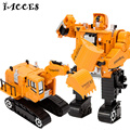 5 in 1 Engineering  toys Deformation Robot Car Metal Alloy Construction Vehicle Truck Assembly Deformation Toy Kid Toys Gifts