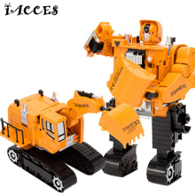 5 in 1 Engineering toys Deformation Robot Car Metal Alloy Construction Vehicle Truck Assembly Deformation