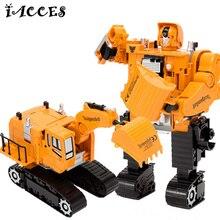 5 в 1 Инженерных игрушки Деформации Робот Автомобиль Сплава Металла Строительство Грузовой Автомобиль Сборки Деформация Игрушки Детские Игрушки Подарки