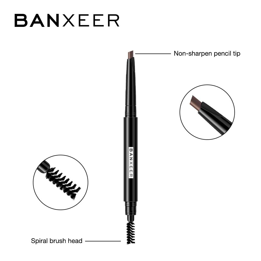 BANXEER Eyebrow 4 Colors Waterproof Eyebrow Long Lasting Eye brow Tattoo Pencil Durable Black Brown Smudge-proof Eye Brow Pencil 2