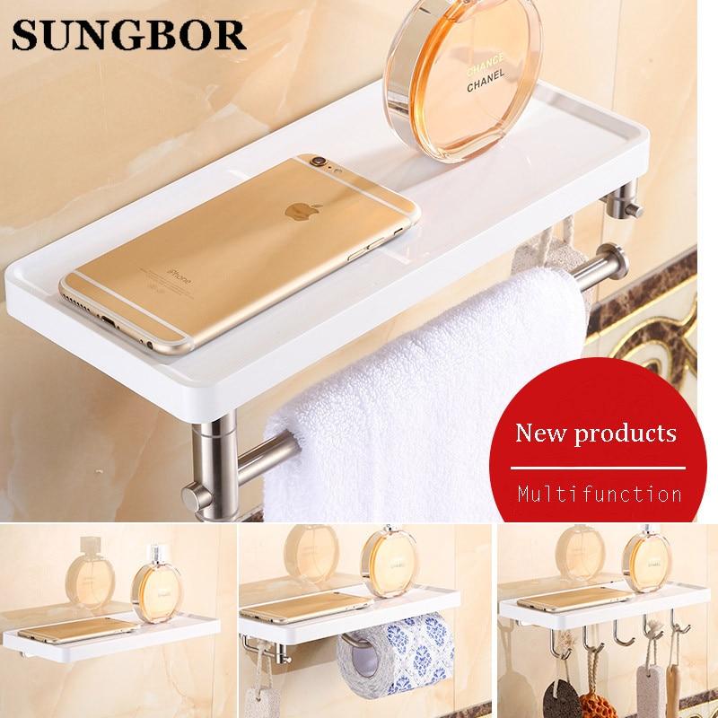 Multi-function Bathroom Shelves Shelf Bar Bathroom Accessories Wall Shelf Living Room Free Shipping HF-2018 цены