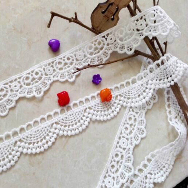 3yards/lot Nylon Lace Accessories Clothing Decoration Ribbon Lace Trim Fabric For Sewing Bridal Wedding Dress Craft