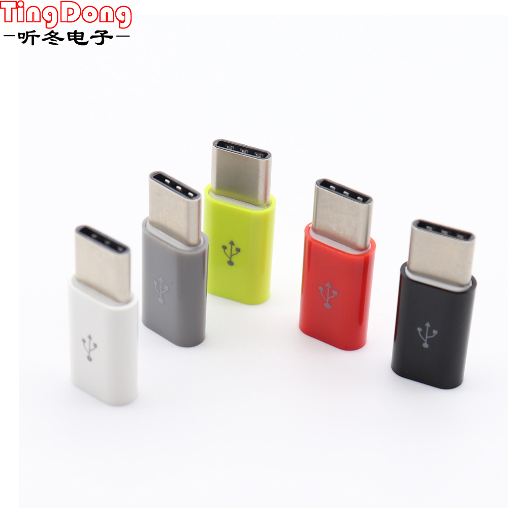 3PCS Micro USB To Type C Adapter Converter For Xiaomi Huawei P20 Lite Honor 10 Mate 20 Pro One Plus 6T Oneplus 6 5 Typec