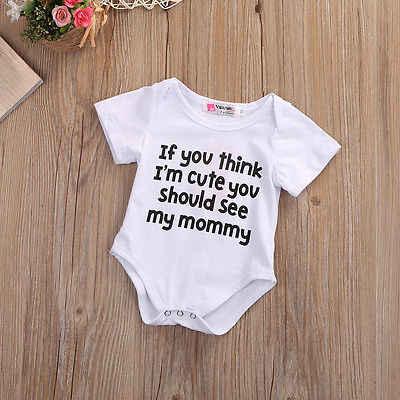 Toddler Thư Jumpsuit Thời Trang Baby Boy Trắng Bodysuit Dễ Thương Baby Girl Từ Quần Áo Trẻ Sơ Sinh Mùa Hè In Trang Phục