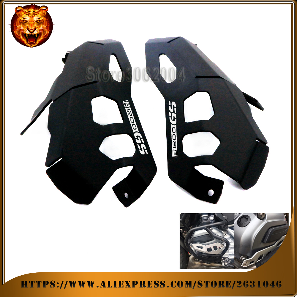 For BMW R1200GS 1200 R1200 gs Adventure 2014-2017 Motorcycle Aluminum Cylinder Head Guards Protector Cover free shipping logo немецкий мотоцикл bmw r 12 6142