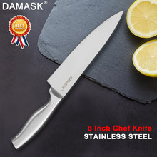 Damask Stainless Steel Knife Fruit Utility Santoku Chef Slicer Stainless Steel Chef Kitchen Knives Japanese Style Meat Cleaver(China)