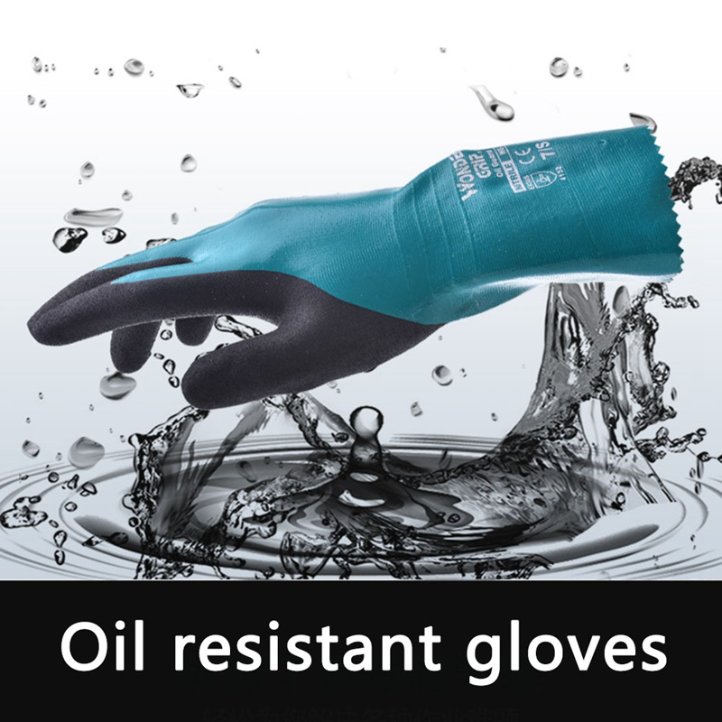 4132 Chemical Resistant safety glove nitrile fully dipped water proof labor glove oil resistant comfortable antibiotic4132 Chemical Resistant safety glove nitrile fully dipped water proof labor glove oil resistant comfortable antibiotic